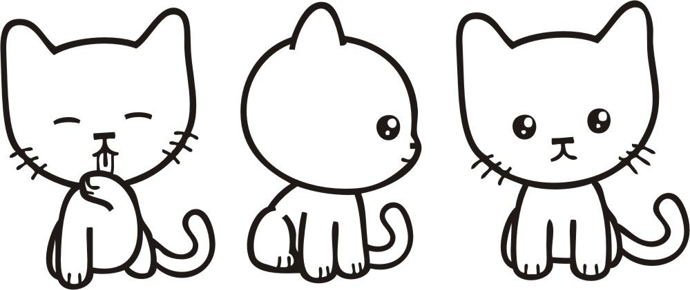 Chat manga - Chat facile a dessiner ...